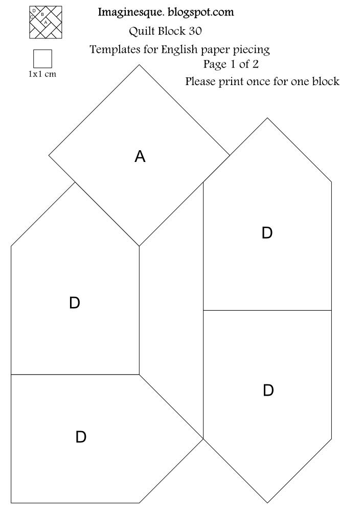 4 blocker template - imaginesque quilt block 30 pattern templates