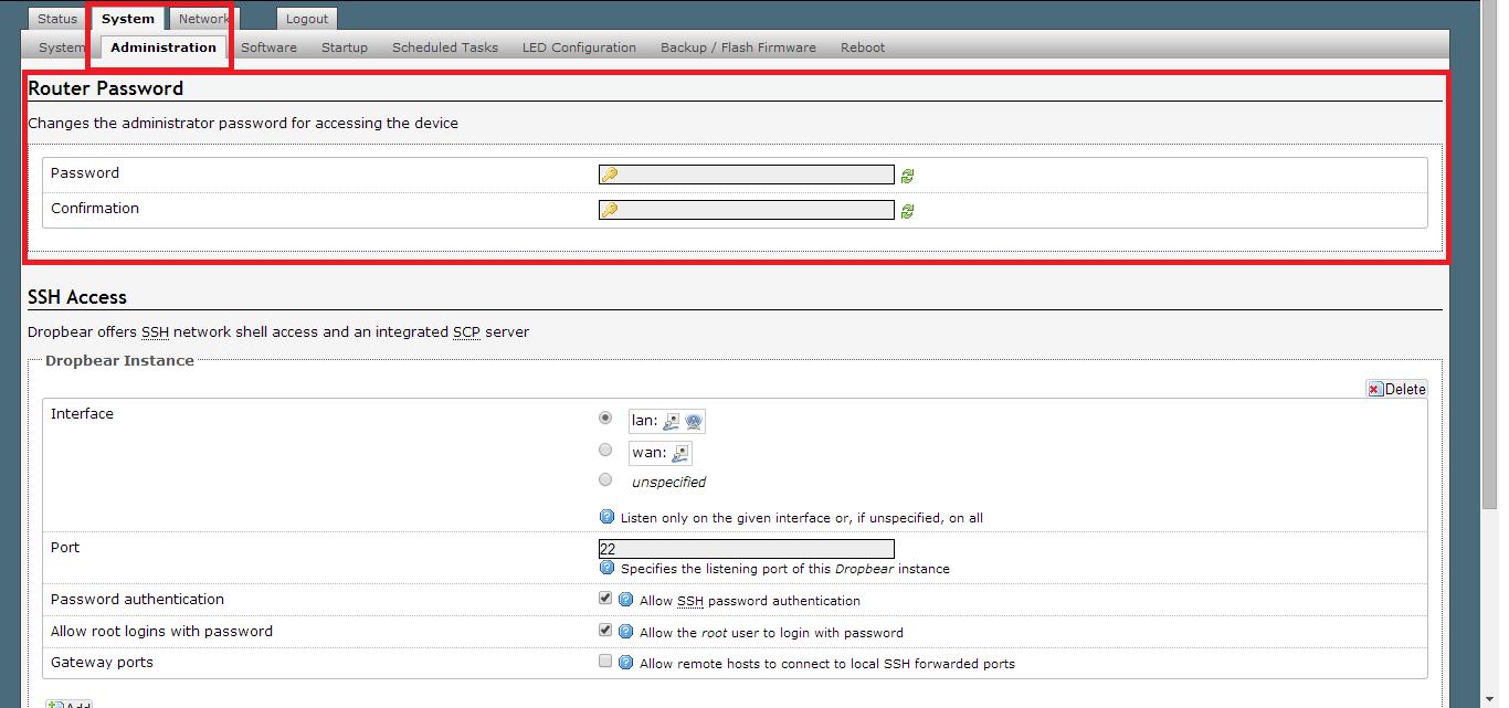 Configurando OpenWRT