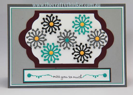 SU, Botanical Builder, modern card, handmade card, bold pattern