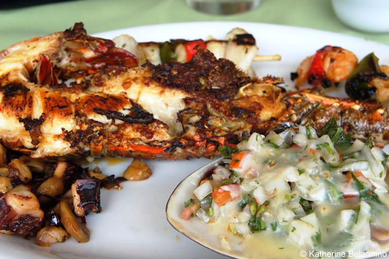 Popotla Park Restaurant Lobster Baja California Mexico