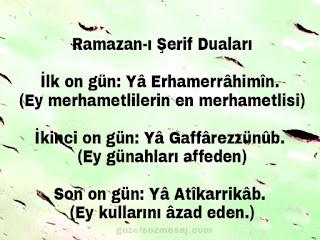 Ramazanı şerifini duaları