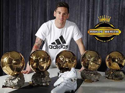 Messi Dapatkan Lima Ballon d'Or Tapi Bisa Disamai Oleh Ronaldo