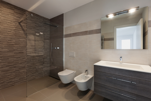 Turn two bathroom areas into one and come up with a bigger and better toilet  at home. This can be achieved by demolishing the adjoining wall that  connects ...