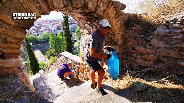 Ναύπλιο: Ο Σύλλογος Μαραθωνοδρόμων Αργολίδας καθάρισε εθελοντικά τα σκαλιά του Παλαμηδίου (βίντεο)