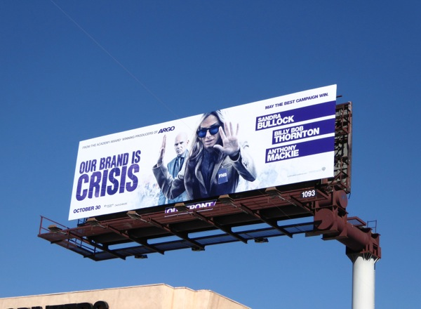 Our Brand is Crisis movie billboard