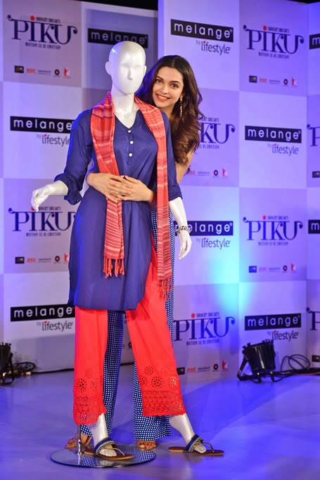 1fe1664bc8 I was recently invited to the unveiling of the 'Piku Inspired Collection by  Melange by Lifestyle' by Deepika and Irrfan and I really liked the look  created ...