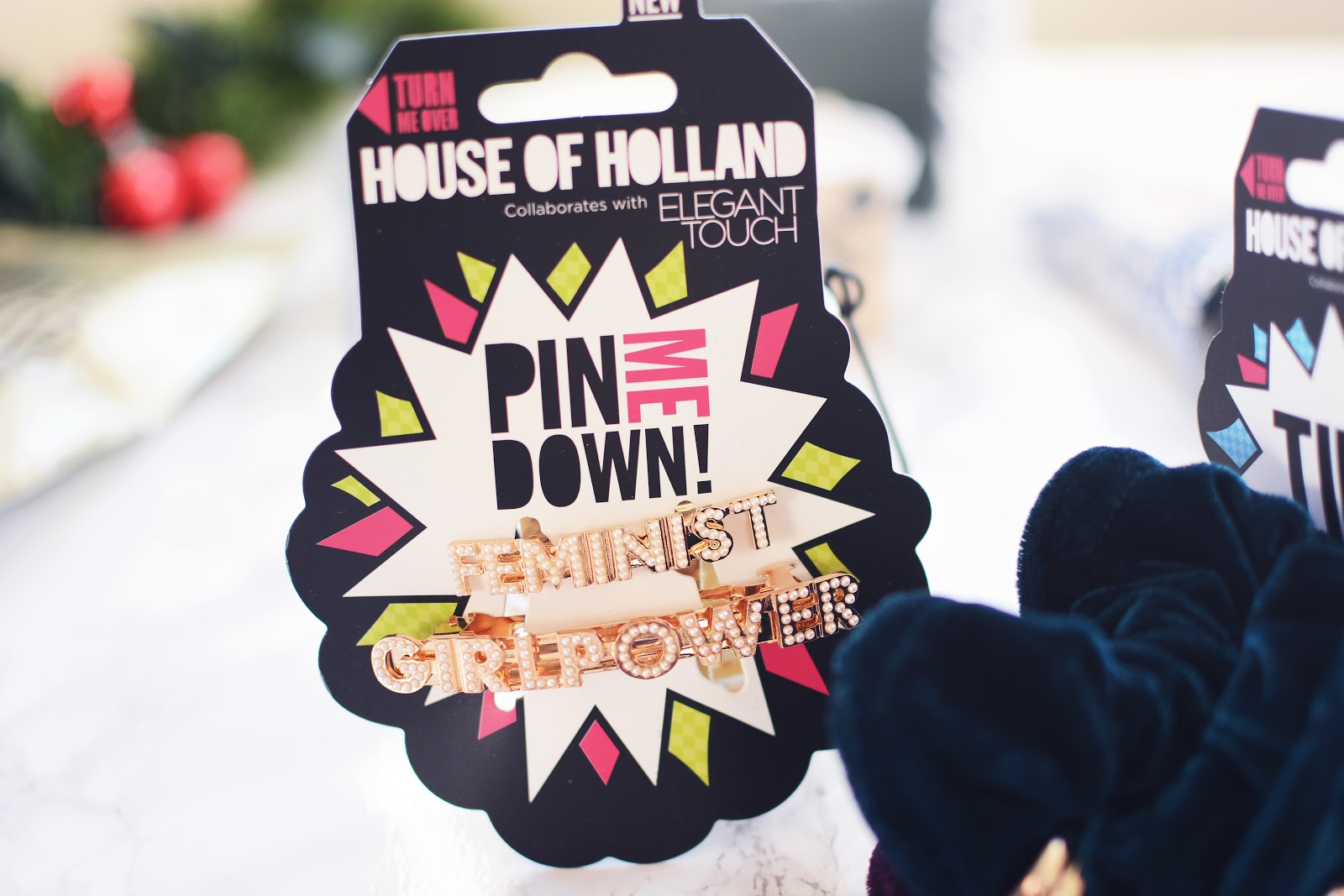 House Of Holland Feminist Clips Hair Barrettes