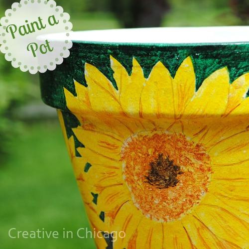 sun flower pot