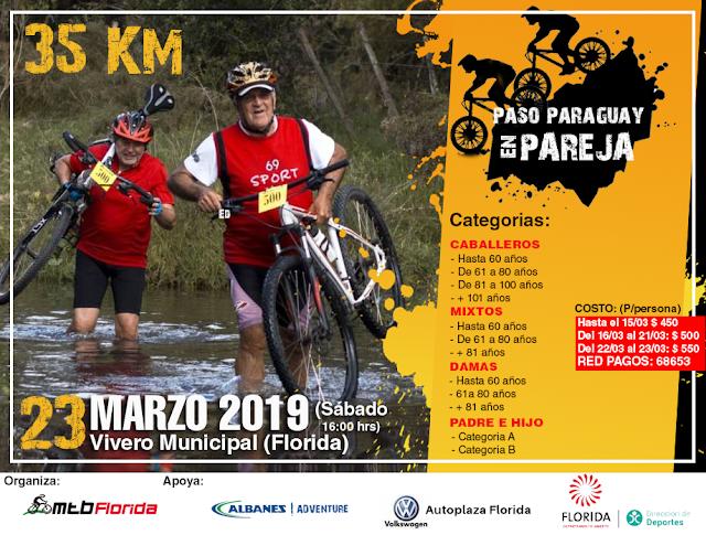 MTB - Paso Paraguay en parejas (Florida, 23/mar/2019)