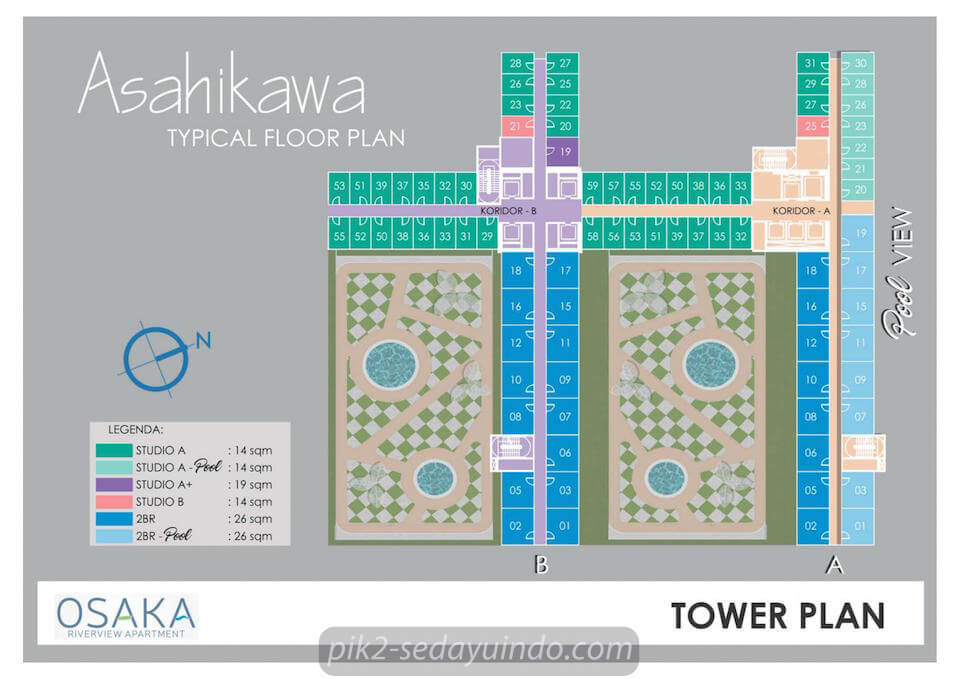 Tower Plan Asahikawa Apartment Osaka Riverview