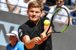 Goffin beats Wawrinka to advance in Rome