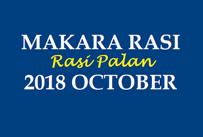 Makar Rashifal 2018 October