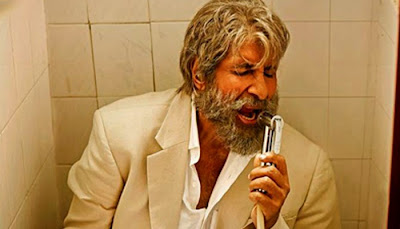 Shamitabh, Directed by R. Balki, starring Amitabh Bachchan as Amitabh Sinha, sings Piddly Si Baatein