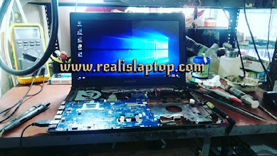 service laptop lenovo g405 tidak tampil / no display