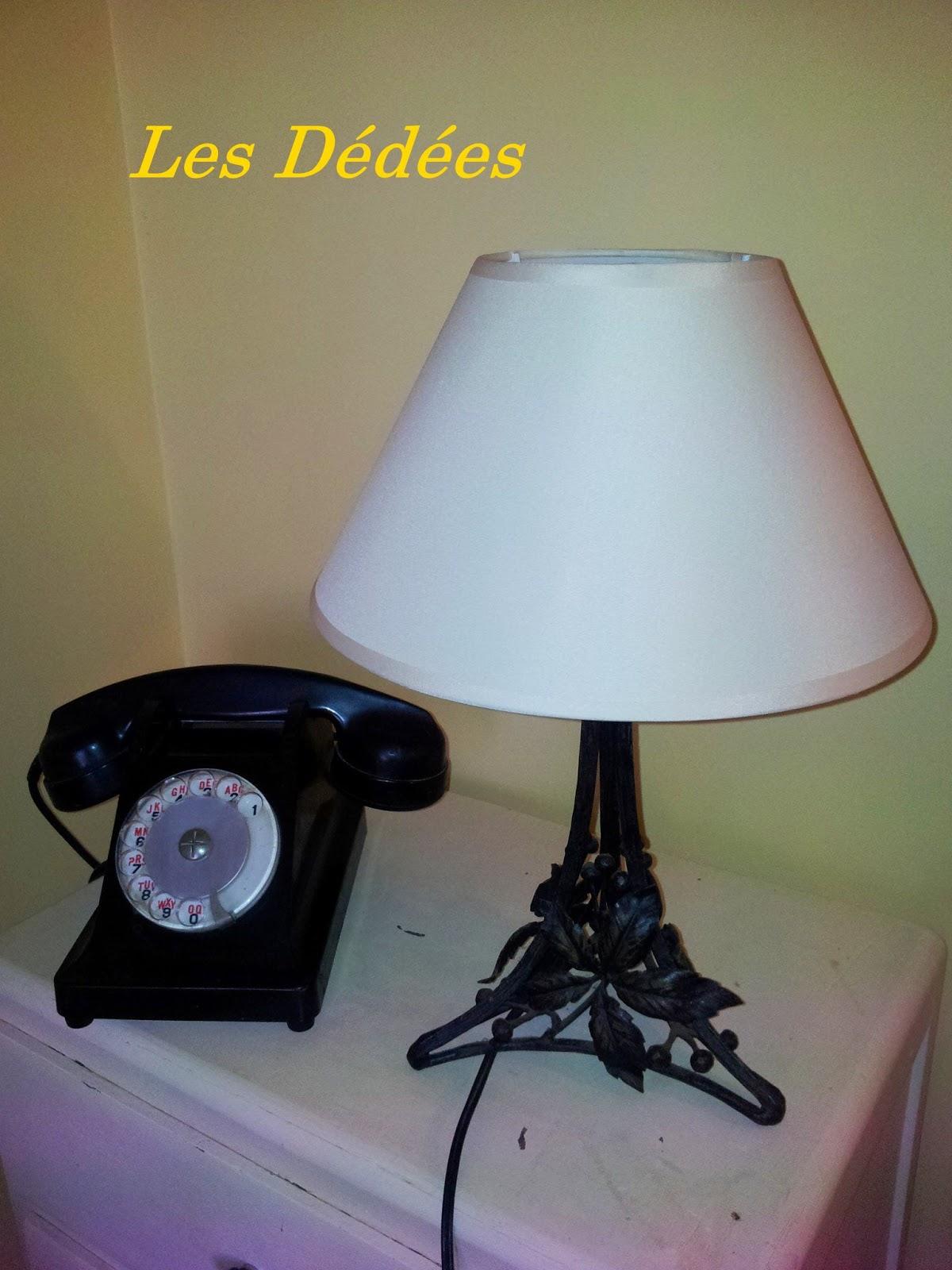 les dedees vintage recup creations petite lampe. Black Bedroom Furniture Sets. Home Design Ideas
