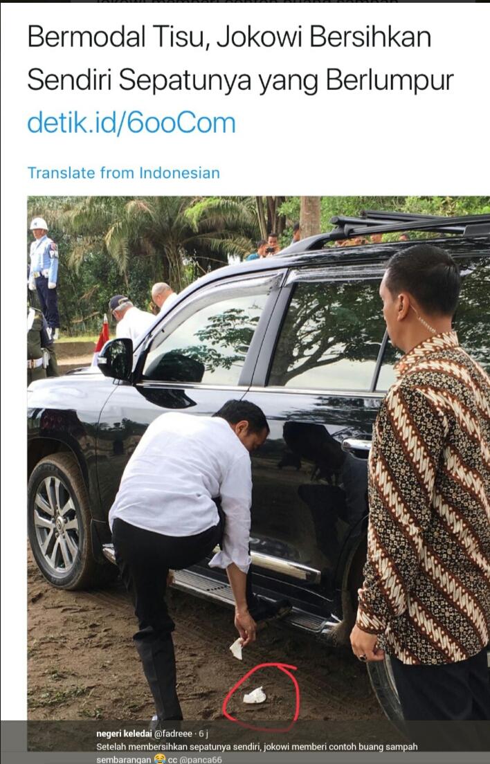 Habis Disanjung Detikcom, Jokowi KEDAPATAN Buang Sampah SEMBARANGAN!