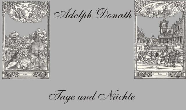 Gedichte Und Zitate Für Alle Adolph Donath Tage Und Nächte