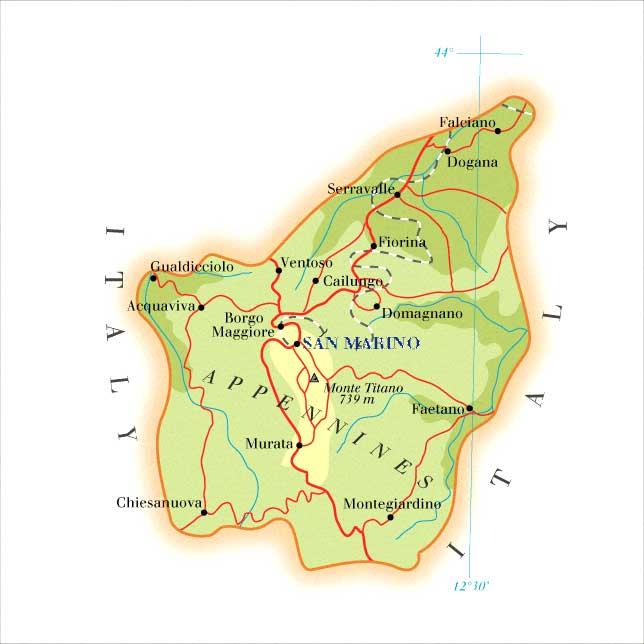 San Marino | Mapas Geográficos de San Marino