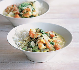prawn and spinach curry recipe