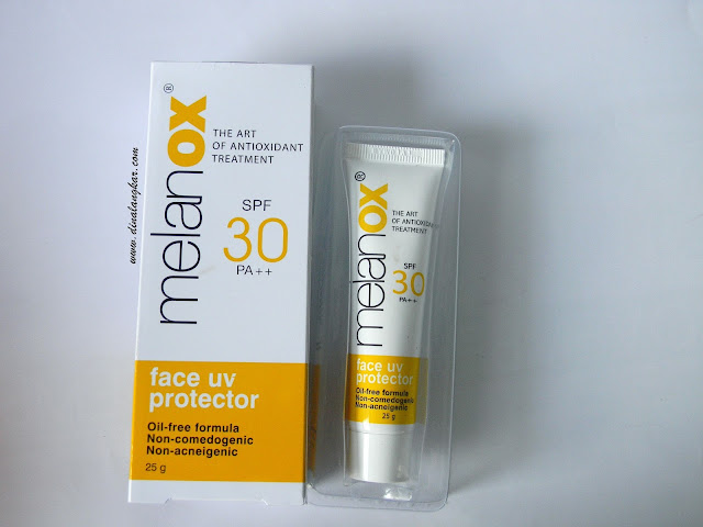 Melanox Face uv protector SPF 30 PA +++  (Review)