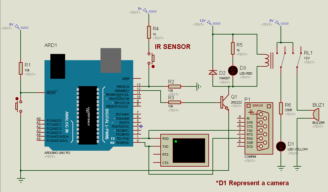 GSM universal a simple gsm security using laser diode with alarm and