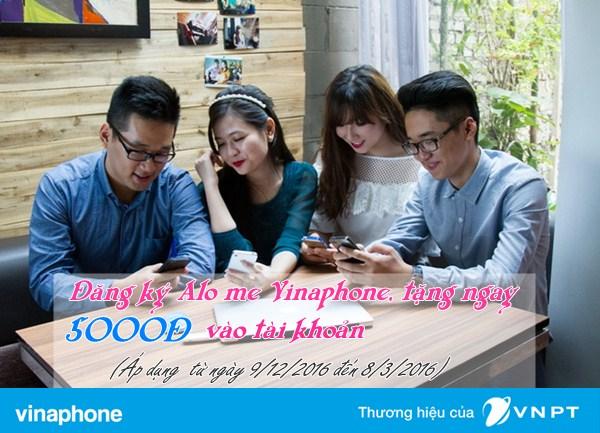 Đăng ký dịch vụ Alo Me Vinaphone nhận 50.000đ trong tài khoản