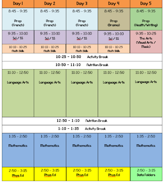 Runde's Room: A Peek At My Schedule