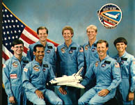The crew of astronauts on the Space Shuttle Columbia that saw the Black Triangle UFO between the Shuttle and Earth.