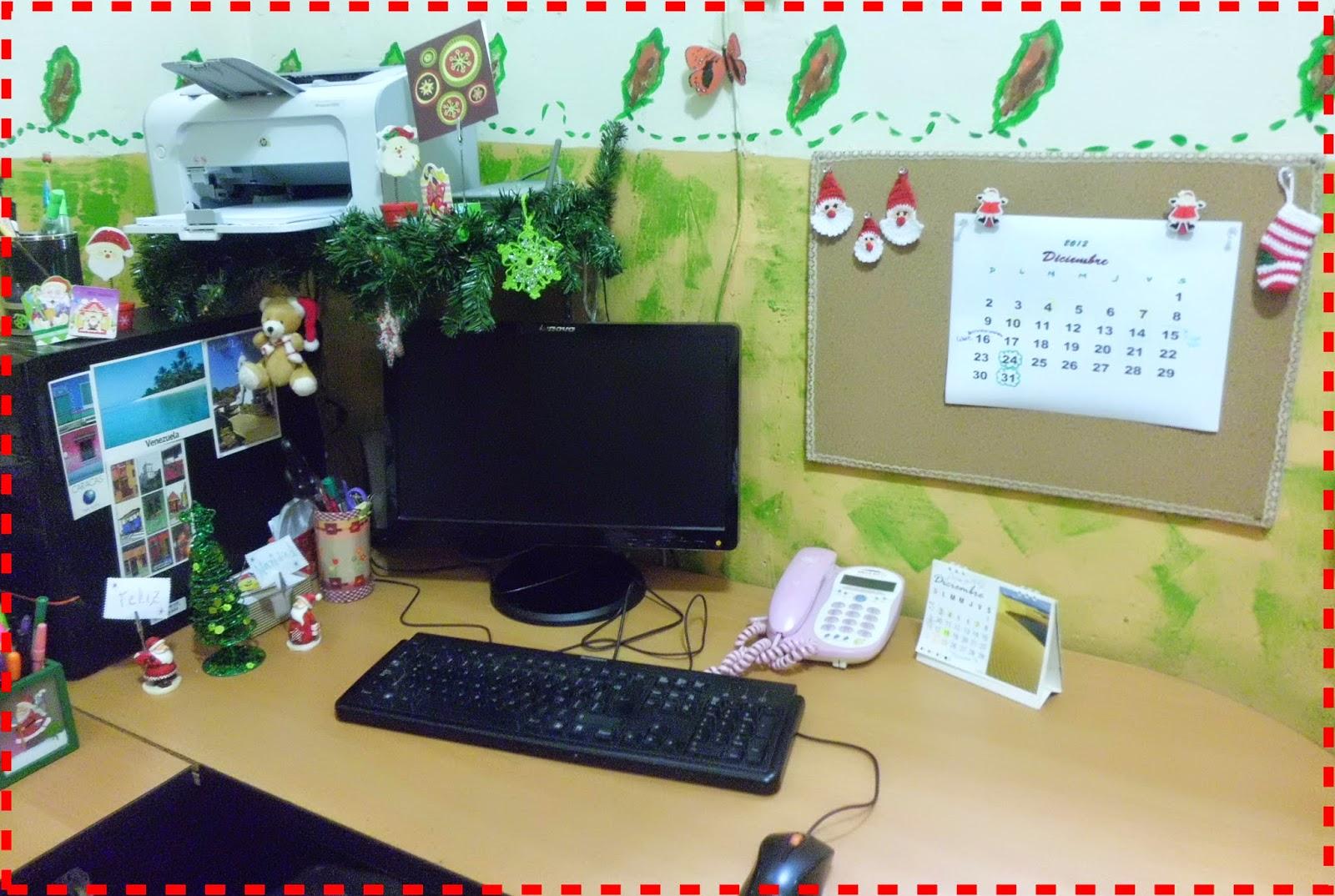 El caf de caro nuga decoraci n navide a en la oficina for Decoracion navidena oficina
