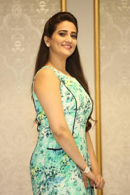 Manjusha Stills At Vaisakham Movie Triple Platinum Disc Function