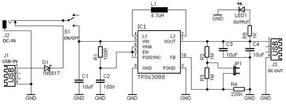 Circuit Schematic Smart Power Supply for Microcontroller