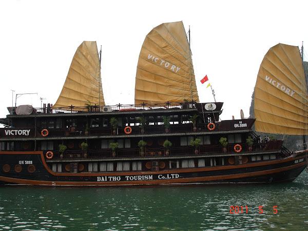 Barco Junco - Bahia de Halong - Vietnam