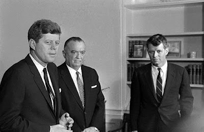 """""""Attorney General Robert F. Kennedy approved FBI wiretaps on Rev. Martin Luther King on this day because of allegations that two of his aides had Communist associations…. Robert Kennedy authorized the wiretaps in response to continued pressure from FBI Director J. Edgar Hoover. Neither President Kennedy nor the attorney general ever challenged Hoover's allegations about King and Communism."""