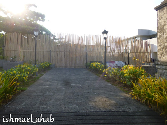 Bamboo palisade at the old West Gate of the Spanish Naval Station in Subic Bay