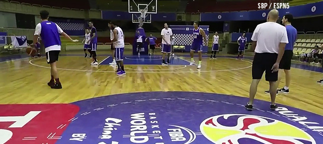 Gilas Pilipinas' First Practice In Iran (VIDEO) September 12