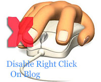 Disable Right Click for blog