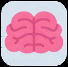 内臓のアイコン(枠付き・脳)