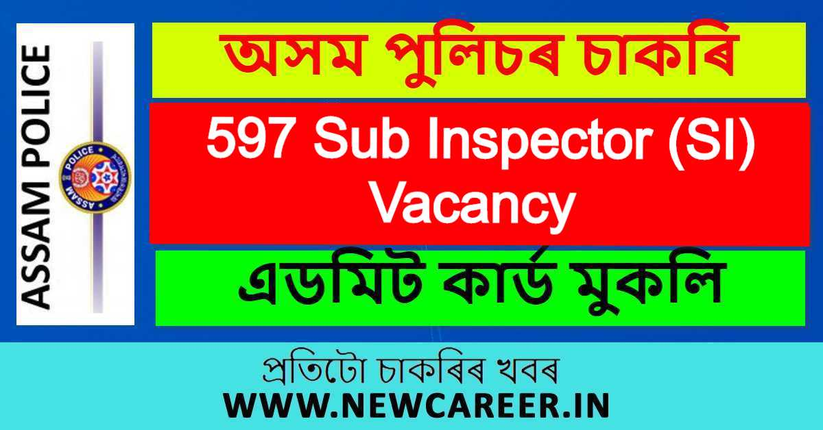 Assam Police SI Admit Card 2020 : Download Call Letter @ Slprbassam.In