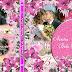 Plantilla psd floral color rosado crea su portada DVD