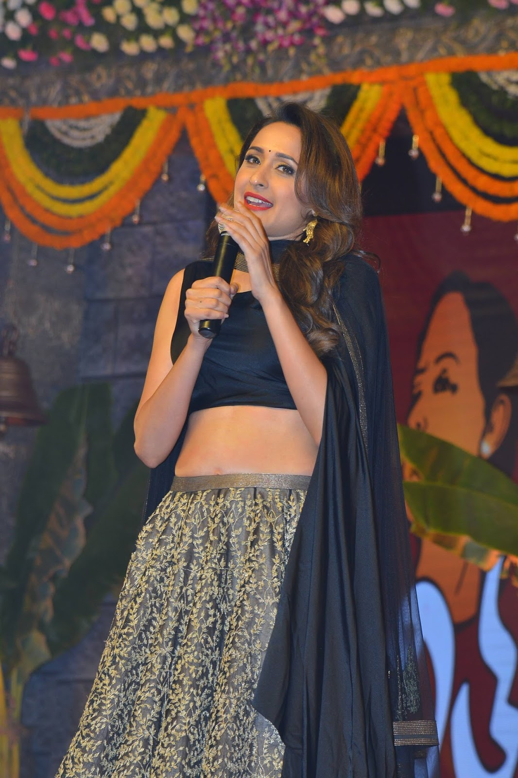 pragya jaiswal HD Stills at Om Namo Venkatesaya Audio Launch