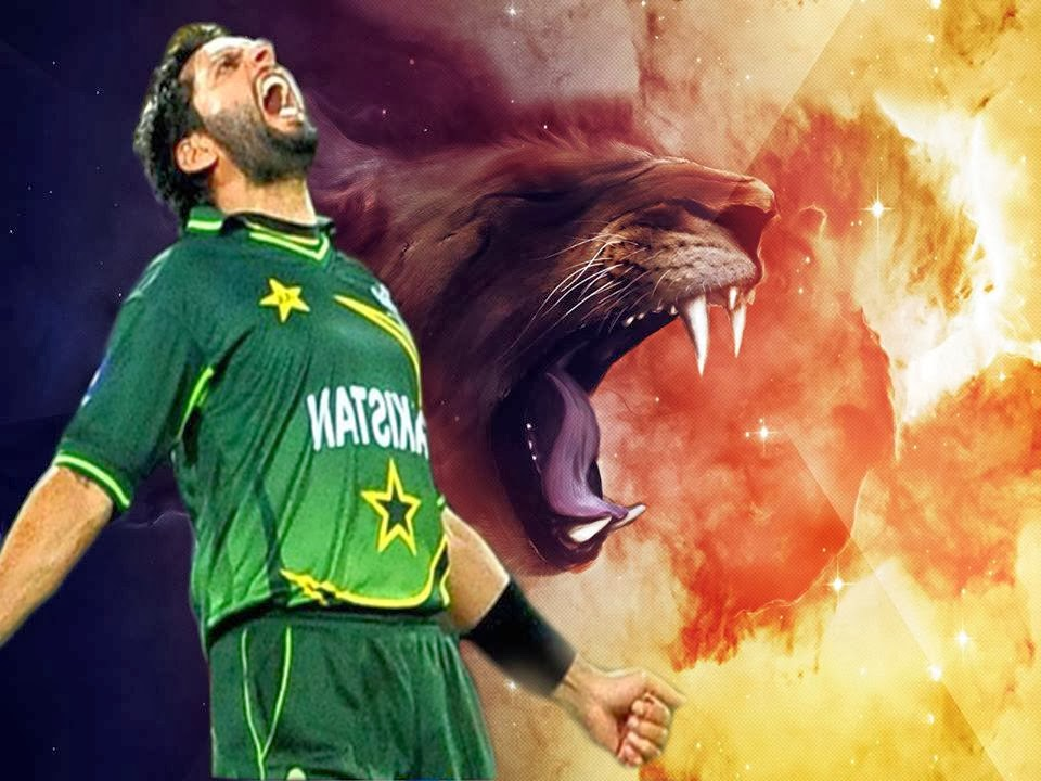 Words Celebrities Wallpapers: Shahid Afridi Brand New HD