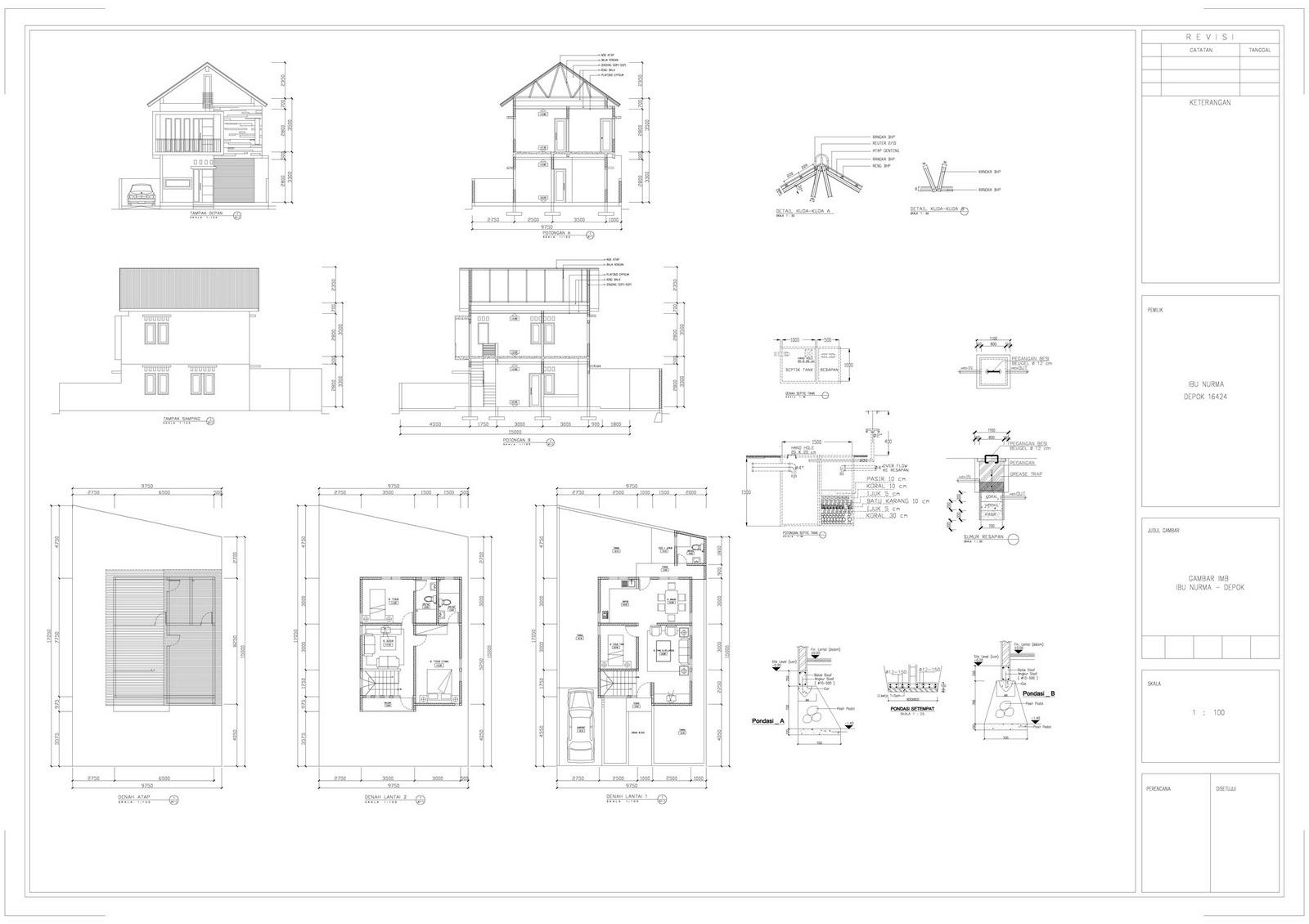 104 Contoh Gambar Kerja Rumah Minimalis 2 Lantai Gambar Desain Rumah Minimalis