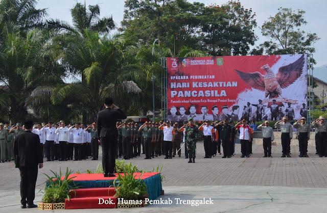 1 Oktober, Pemkab Trenggalek Peringati Hari Kesaktian Pancasila