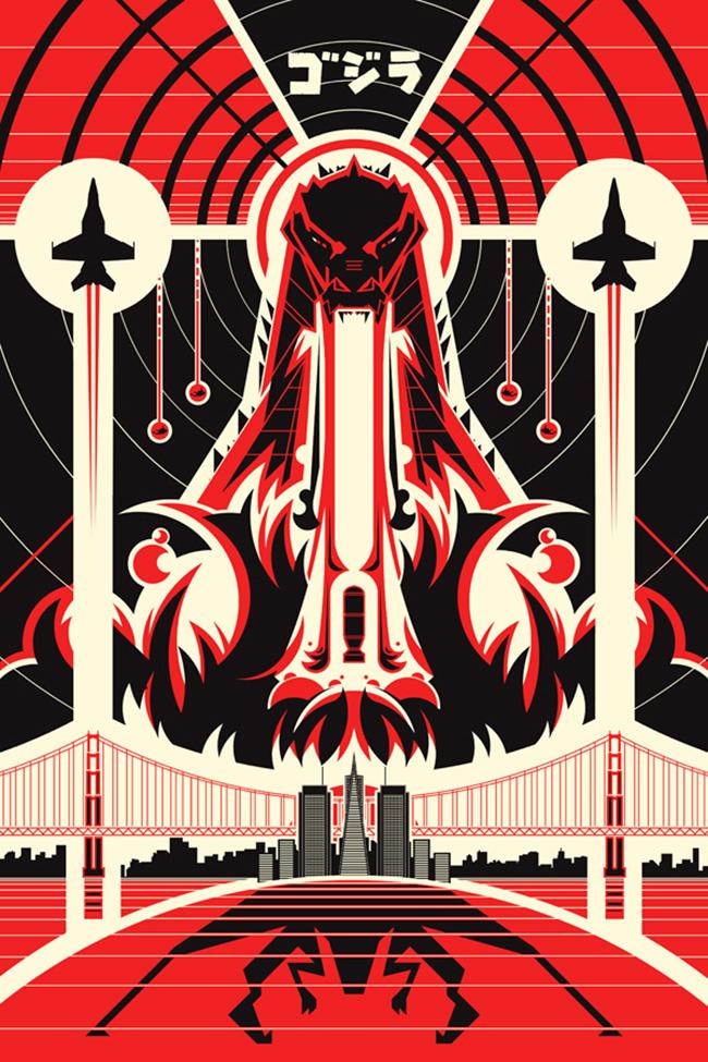 Ron Guyatt (Canada) - Godzilla art