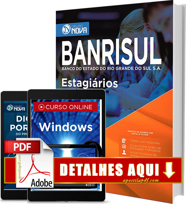 Apostila Banrisul 2016 Estagiários Impressa