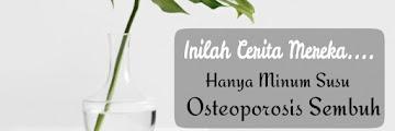 Hanya Minum Susu, Osteoporosis Sembuh!