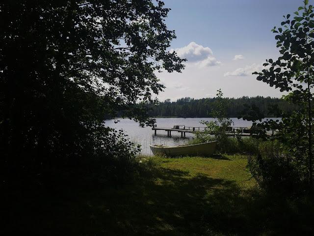 juhannus, kesä, ranta, järvi, vene
