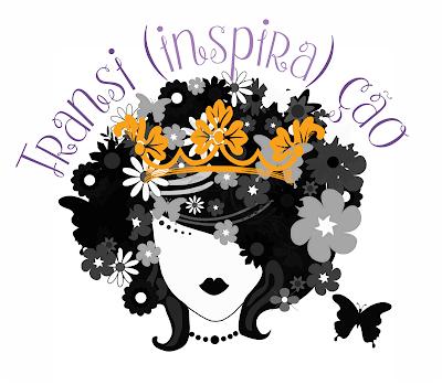 Logotipo do Transição Inspiração com coroa em alusão ao concurso de miss Brasil 2016 e a representatividade dos cabelos das candidatas negras cacheadas e crespas