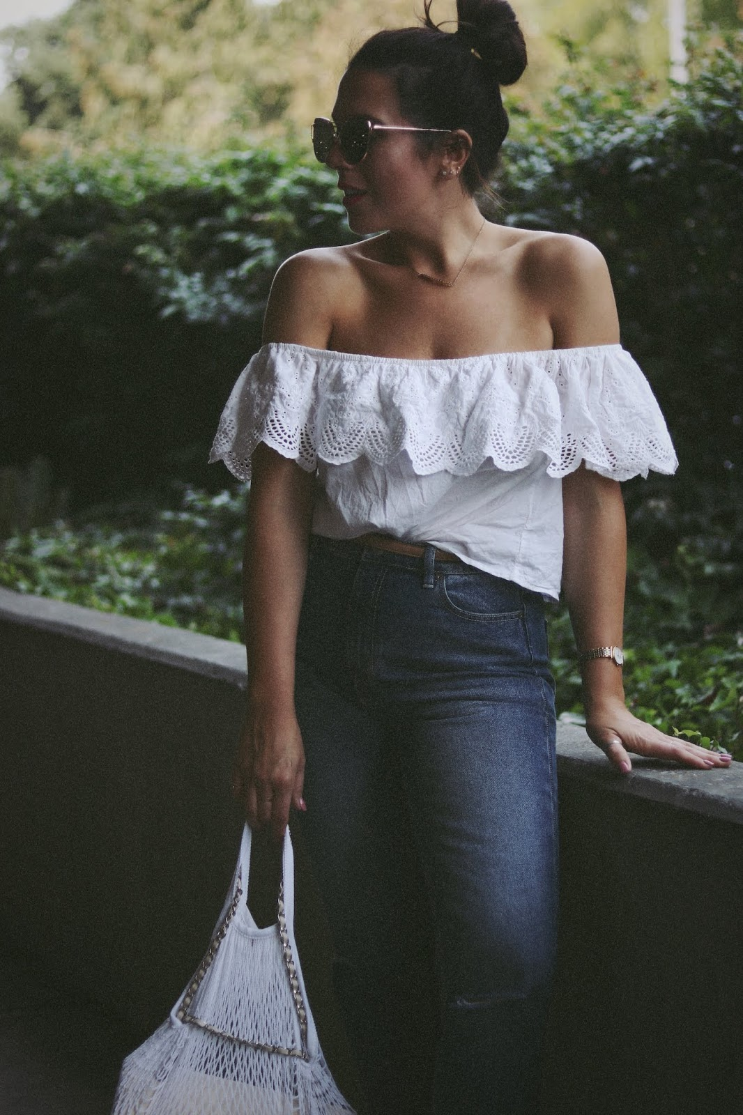RVCA jeans Chanel french riviera bag net handbag vancouver blogger aleesha harris