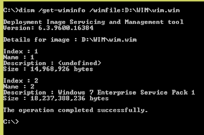 Configuration Manager - Inject Windows Updates into WIM image files using Windows 8.1 4